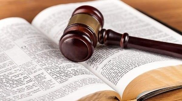 Gavel on Bible
