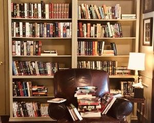 Chair with bookcases