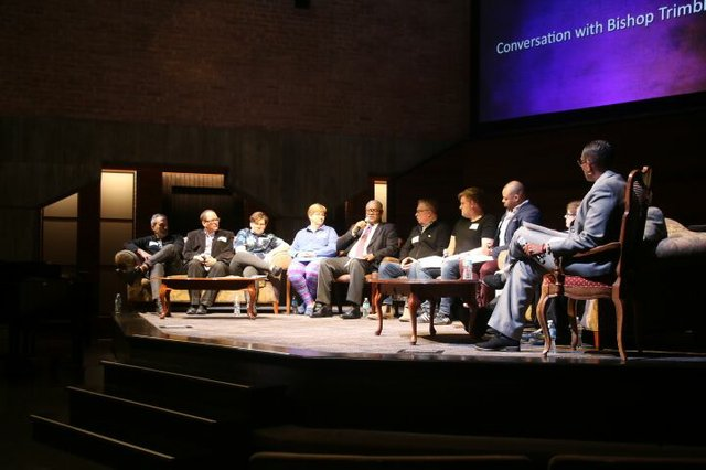 Bishop Trimble Panel Onstage