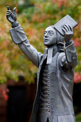 Asbury Wesley Statue