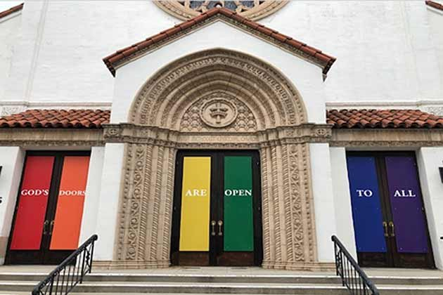 Rainbow doors