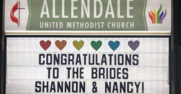Allendale same-sex wedding