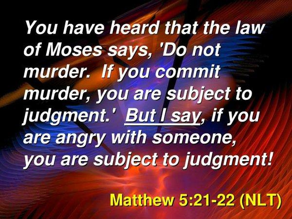 Matthew 5:21-22
