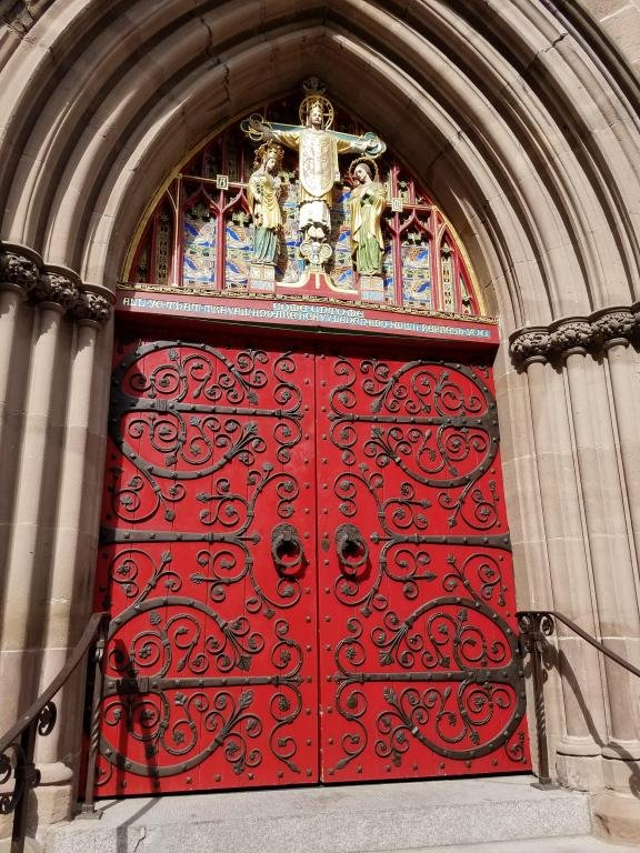 Red Church Doors