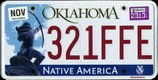 Oklahoma License Plate