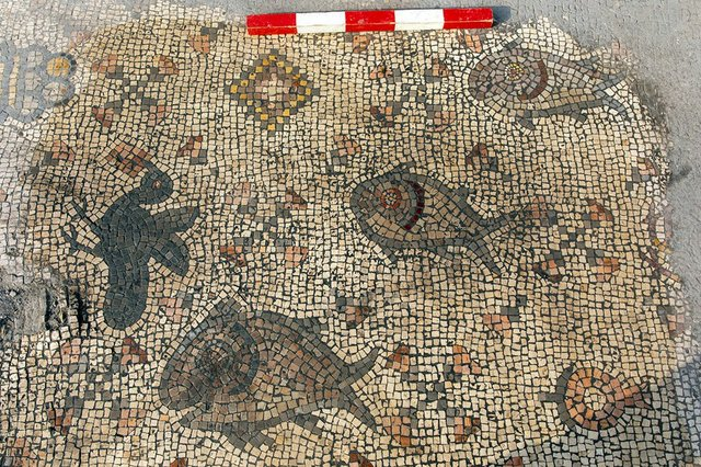 Mosaic Floor Fish