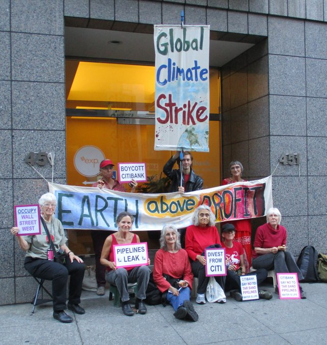 SF Bank Climate Strike