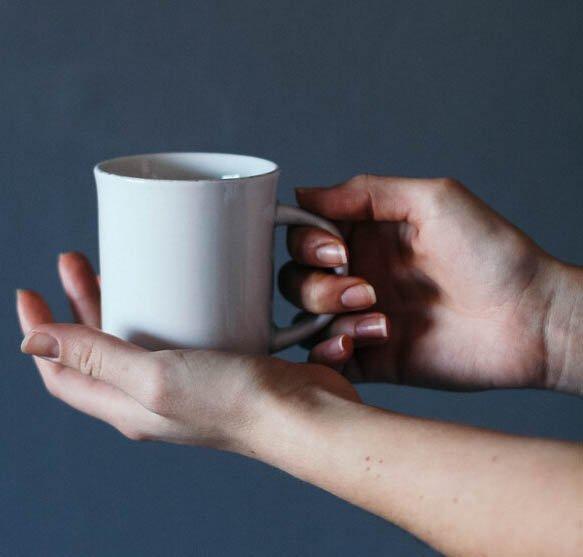 Coffee mug teaser