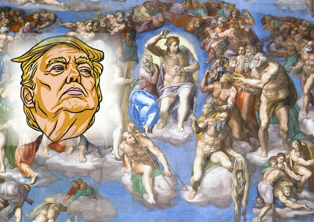 Trump Michaelangelo