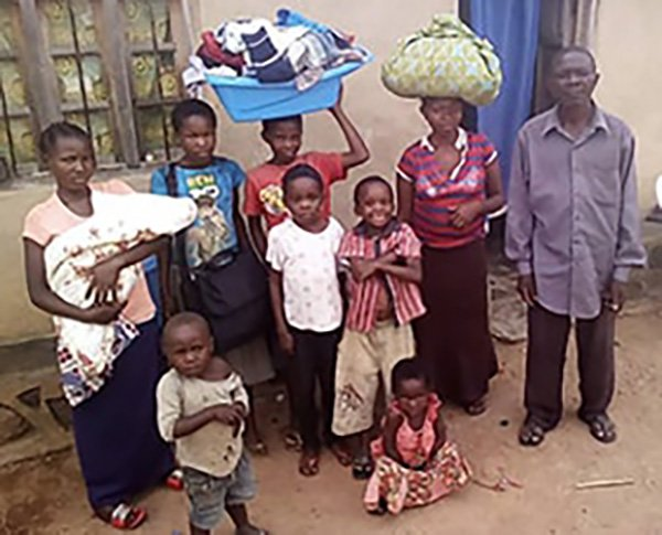 Congo Displaced Family