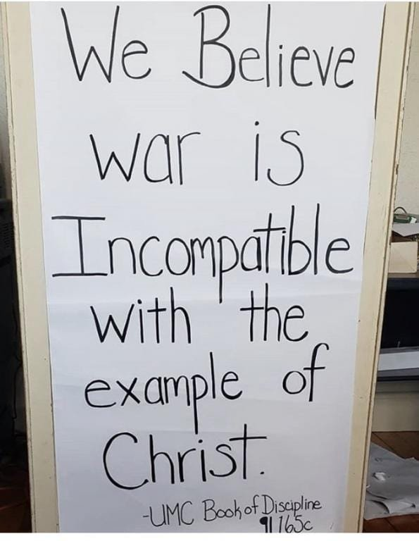 Incompatible war sign