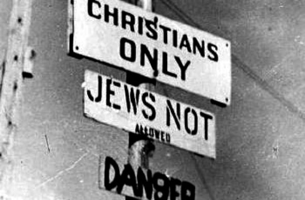 Anti-Semitic Sign