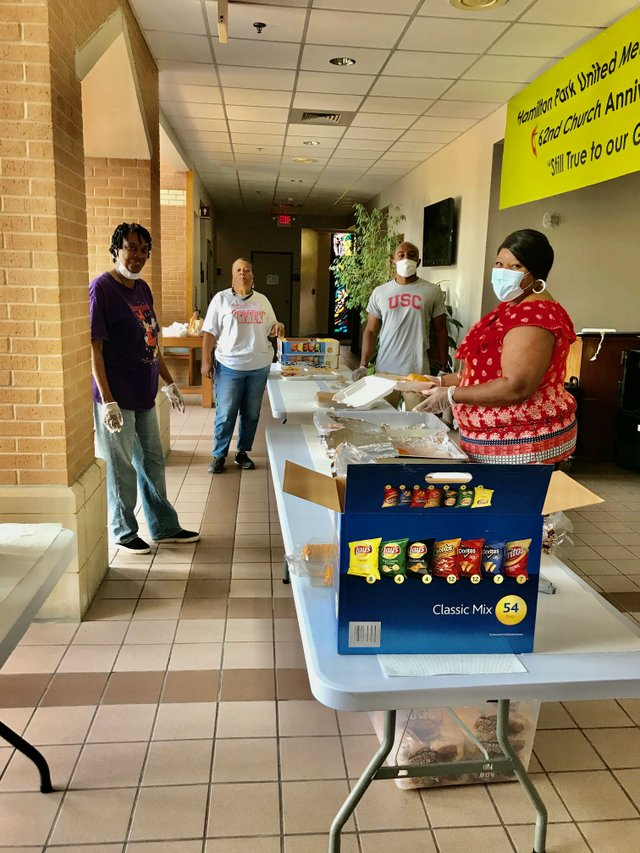 Feeding Volunteers