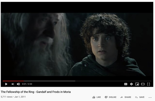 Frodo and Gandalf