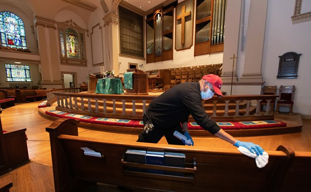 Churches Re-opening custodian