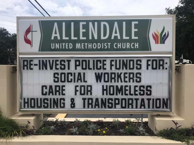 Re-invest police funds
