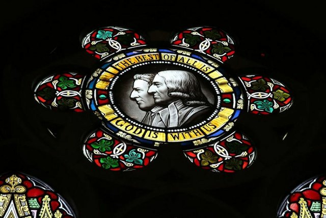Wesley Brothers Stained Glass
