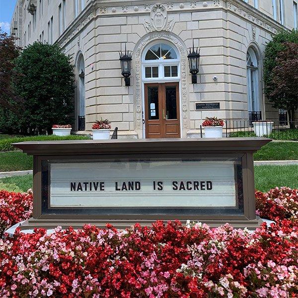 Native land sign