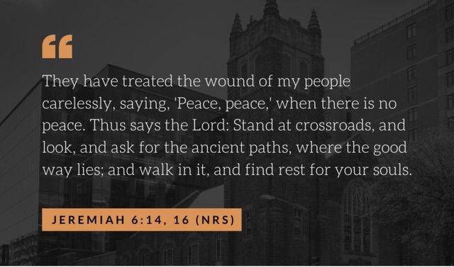 Jeremiah wound