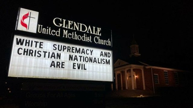 Glendale White Supremacy sign