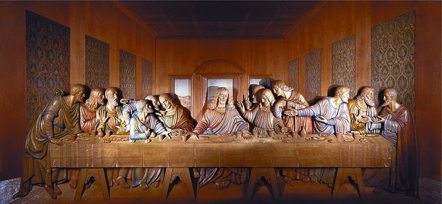 Last Supper Carving