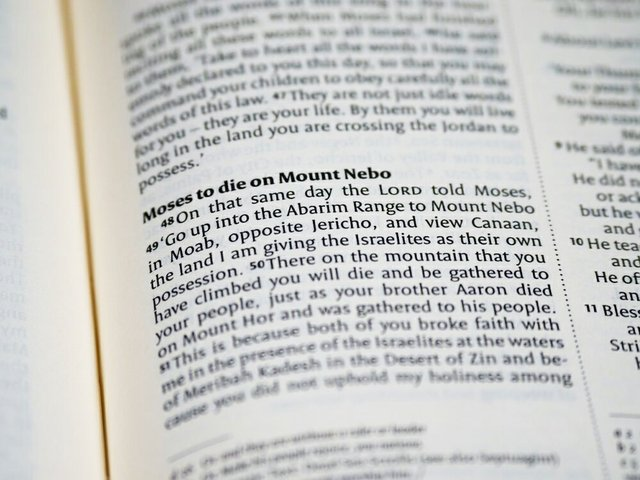 Moses Nebo scripture